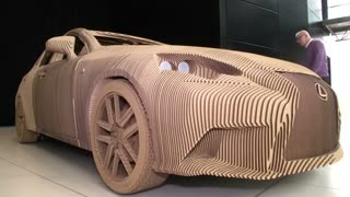 Lexus builds origami-inspired cardboard car - Video