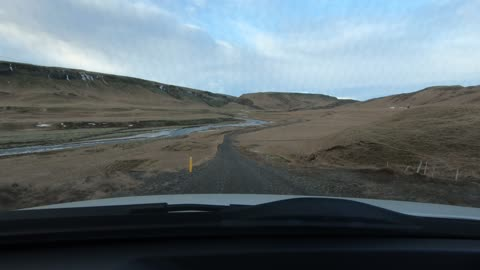 Range Rover on a bad road in Iceland.