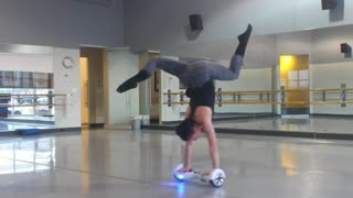 Collab copyright protection - dancer handstand hoverboard fail - Video
