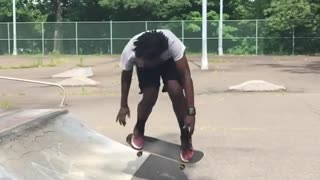 Collab copyright protection - skateboard ramp roll fail - Video