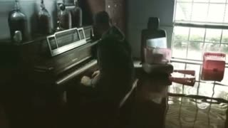 Aric Harding Playing Piano - Video