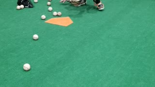9 year old Cameron Catching drills