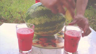How to make a refreshing watermelon drink - Video
