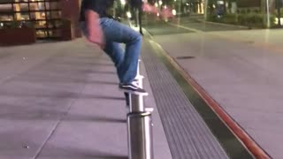 Guy trying to jump over pull hits himself