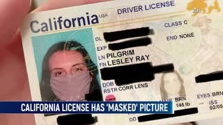 Woman In California Receives Driver's License With Picture Of 'Masked' Face