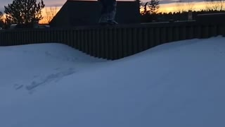 Fence Backflip Ends With Face Straight Into Snow - Video