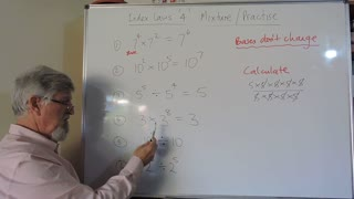 Math Index Laws or Exponent Set A 04 Multiplication and Division Mixture Mostly for Years/Grade 7 and 8