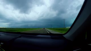 Time Lapse Captures Intense Drive Through Of Texas Hail Storm - Video
