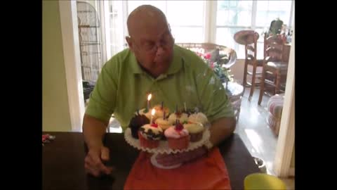 Sweet Man Battles Trick Candles on 80th Birthday!