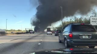 Accident on Florida's Turnpike - Video