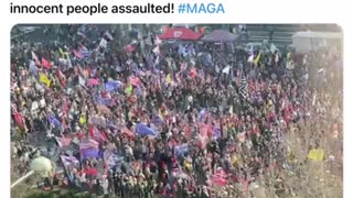 Thousands of Trump supporters protesting and.....