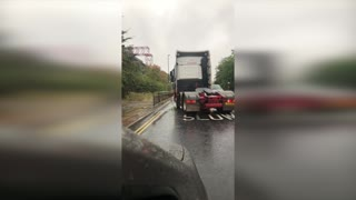 Mixed Success Driving Through Floodwaters