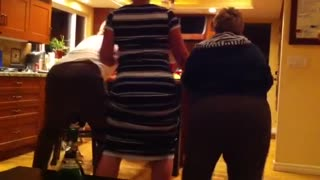 Family Tries To Teach Grandma To Twerk To An Eminem Song - Video