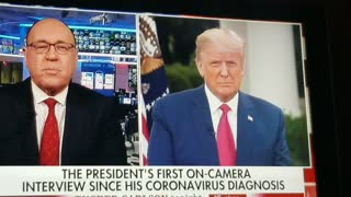 President Trump First OnCam Interview Since Virus Diagnosis Part 1ý