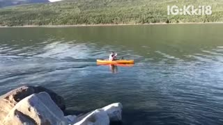 Canoe beer throw shotgun