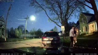 Teen Caught Jumping on Car