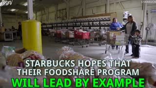 Starbucks Donating 100% of Unsold Food - Video
