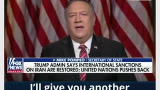 US Secretary of State, Mike Pompeo on September 21, 2020