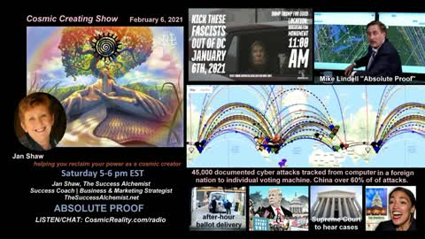 """""""COSMIC CREATING"""" 2/6/21 Current Affairs with Jan Shaw - Absolute Proof"""