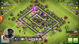 COC Attack : Lava loon Attack 3: 3 stars: High loot - Video