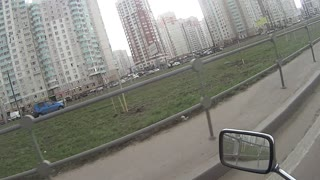 Car Zooms Over Lanes And Crashes Through Median - Video