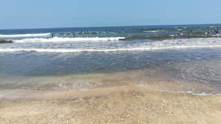 Big Water Waves In Ras El Bar Beach