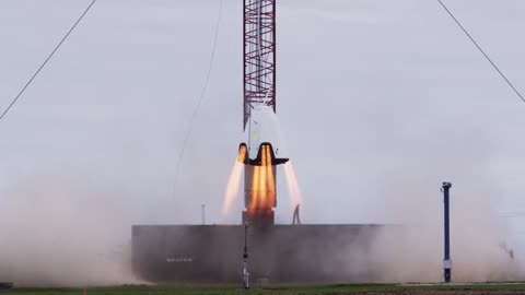 SpaceX conducts rocket hover test for astronaut capsule