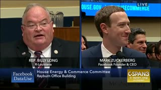 Rep. Billy long questions Mark Zuckerberg - Video