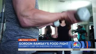 Chef Gordon Ramsay working to lose 50 pounds