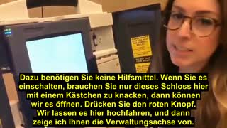 WOMAN EXPLAINS HOW EASY IT IS TO MANIPULATE SUCH A VOTING MACHINE IN UNDER 2 MINUTES