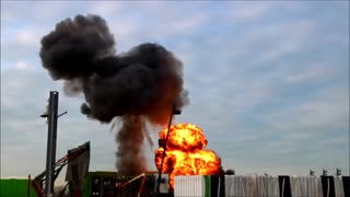 Explosion at Movie Set in Richmond, BC - Video