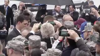 Despite the Pouring Rain, Trump Had to Take Time to Do One Thing - Video
