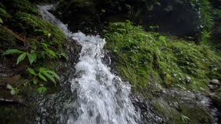 Water Drops Flows Of Small Waterfalls