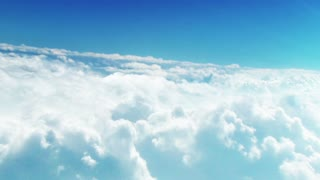 A video from above the clouds where the view is amazing
