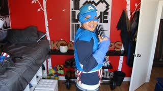 Avengers Age of Ultron: Captain America 99 cent Cosplay - Video