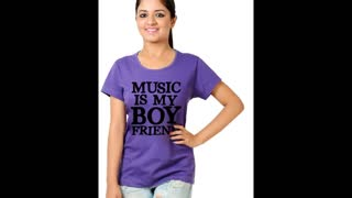 Funny Graphic Design Fuchsia Colour Cotton T Shirts - Video