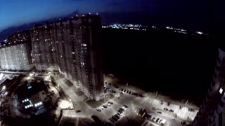 Extreme POV urban BASE jumping footage