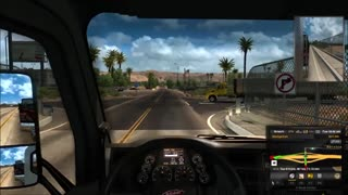 American Truck Sim Barstow  To  Oakdale - Video