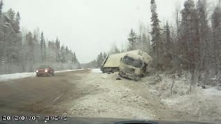 Semi-Truck Slides Out - Video