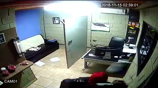 Worst Robber Ever Falls Through Oil Hole - Video