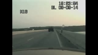 State Trooper saves man attempting to jump off bridge - Video