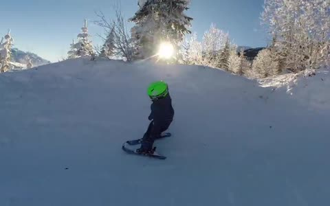 2-year-old skiing prodigy shows off incredible skills