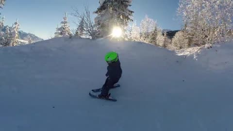 2-Year-Old Skiing Prodigy Shows Off Amazing Skills