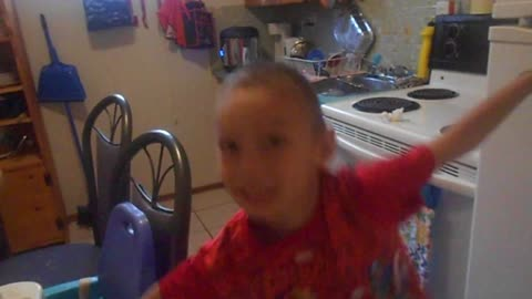 kid gets in trouble for trying to scare prank on his father
