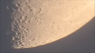 Amazing Half Moon Zoom-In - Video