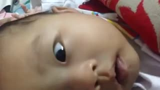 Cute Baby wants to hug and kiss  - Video