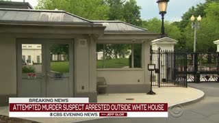 Gov't Contractor Arrested At WH Gate; Wanted For Attempted Murder - Video