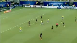 VIDEO: Neymar's winner for Brazil v Colombia - Video