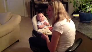 Smart Baby Knows How To Get Mom's Attention - Video