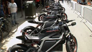 Harley Davidson's first electric ride - Video